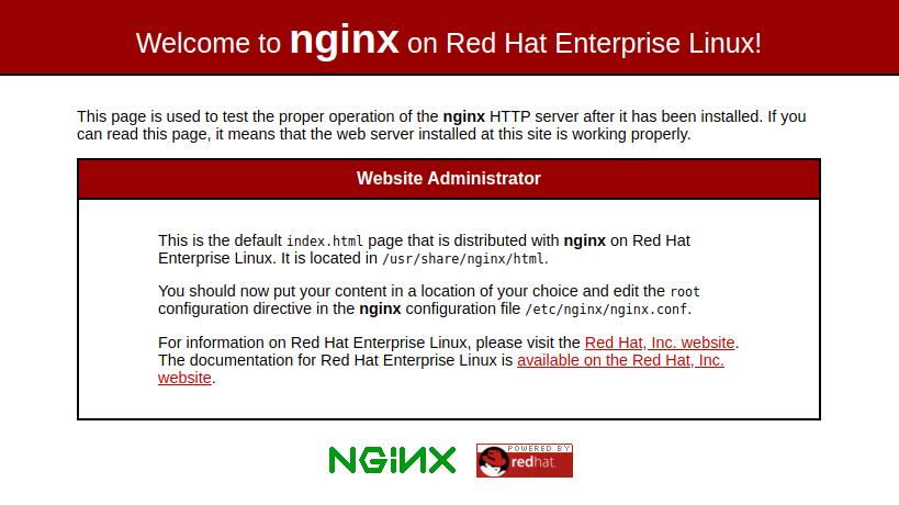 默认 Nginx 页面 CentOS 8